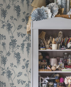 Hedvig Wallpaper by Sandberg in Petrol