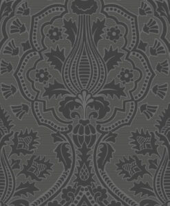 116/9035 Pugin Palace Flock - Charcoal