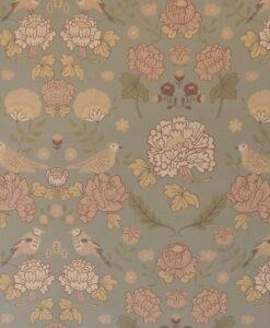 June Wallpaper by Majvillan in Sage Green