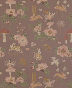 Old Garden Wallpaper by Majvillan in Plum