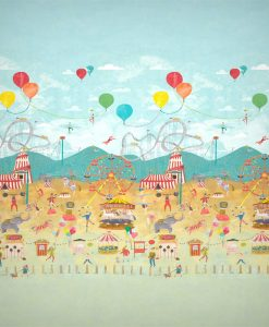 Life's a Circus wallpaper mural from the Book of Little Treasures by Harlequin