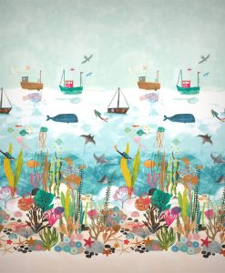 Above and Below mural from The Little Book of Treasures by Harlequin wallpaper